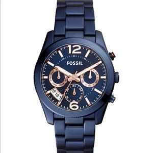 Fossil Blue Metal Watch
